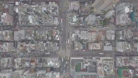 Vista aérea sobre Kowloon, Shui engodo Po, em economias de Hong Kong no arquivo de log vídeos de arquivo
