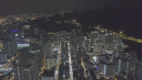 Vista aérea sobre Kowloon, Shui engodo Po, em economias de Hong Kong no arquivo de log video estoque