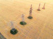 Vista aérea sobre os campos agrícolas fotos de stock