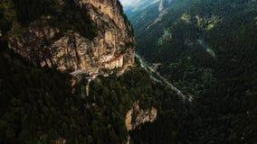Vista aérea Sumela Byzantine Greek Orthodox Monastery em Trabzon Turquia fotografia de stock royalty free