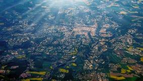 Vista aérea surpreendente Fotografia de Stock