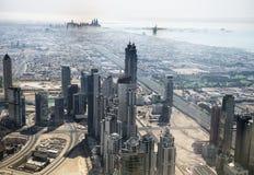 Vista aérea tomada do Burj Khalifa Fotografia de Stock