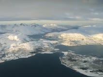 Vista aérea, Tromsoe Noruega Imagens de Stock