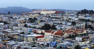 Vista aérea vizinhança 4K de San Francisco, Califórnia video estoque