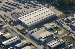 Vista aérea: Zona industrial Fotografia de Stock