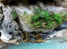Vista abaixo do desfiladeiro de Taroko Imagens de Stock Royalty Free