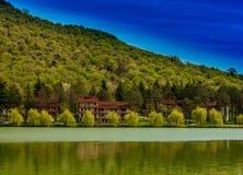 Vista abbastanza georgiana del lago Fotografie Stock