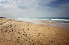 Vista aberta da costa da praia Foto de Stock Royalty Free