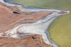 Vista abstracta aérea de la gran costa costa del camino del océano, Victoria, Australia fotografía de archivo libre de regalías
