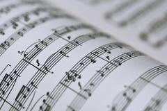 Vista abstracta de la música Foto de archivo libre de regalías