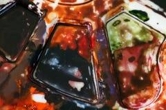 Vista abstracta del fondo de la paleta de la pintura Imagenes de archivo