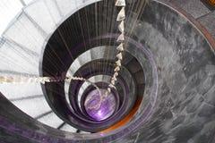 Vista abstrata da escadaria do círculo Fotografia de Stock