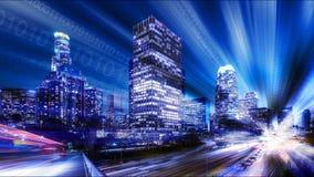 Vista abstrata de Los Angeles imagem de stock royalty free
