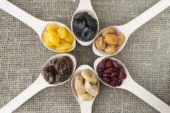 Vista abstrata dos frutos secados Imagens de Stock Royalty Free