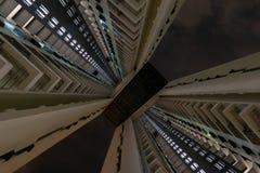Vista acima ao pináculo em Singapura fotografia de stock royalty free