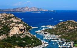 Vista acima de Poltu Quatu, Sardinia Fotografia de Stock