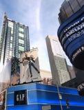 Vista acima do Times Square Foto de Stock Royalty Free