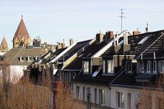 vista acima dos telhados imagem de stock royalty free