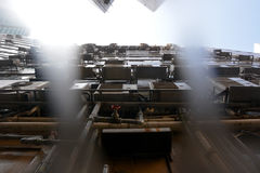 Vista acima em Hong Kong Foto de Stock Royalty Free