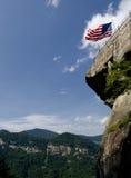 Vista acima na rocha da chaminé imagem de stock
