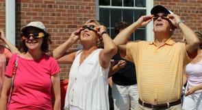 Vista acima no eclipse solar Foto de Stock