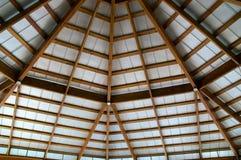 Vista acima no telhado exposto do feixe Imagem de Stock Royalty Free