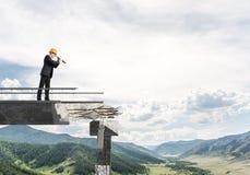 Vista acima para maneiras novas de solução dos problemas Imagens de Stock