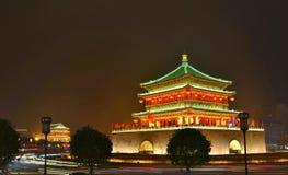 Vista ad alta definizione di notte del campanile e del tamburo Towe Fotografia Stock Libera da Diritti