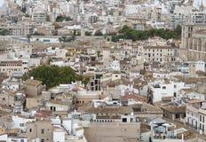 Vista ad alta densità di area in Palma di Maiorca Fotografia Stock Libera da Diritti