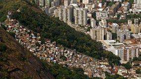 Vista ad alto livello su Favela Santa Marta Fotografia Stock Libera da Diritti