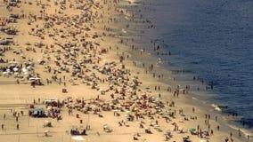 Vista ad alto livello sulla spiaggia di Copacabana Fotografie Stock Libere da Diritti