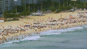 Vista ad alto livello sulla spiaggia di Copacabana Fotografia Stock Libera da Diritti