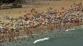 Vista ad alto livello sulla spiaggia di Copacabana Immagini Stock Libere da Diritti