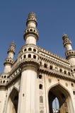Vista ad angolo della torre di Charminar Fotografie Stock Libere da Diritti