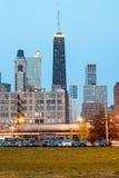 Vista ad ovest dell'orizzonte di Chicago Fotografia Stock Libera da Diritti