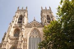 Vista ad ovest della cattedrale di York Fotografia Stock