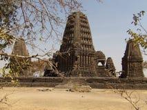 Vista ad ovest di architettura del tempio di Gondeshwar Fotografia Stock