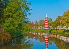 Vista ad un canale nella città olandese di Breda fotografia stock libera da diritti