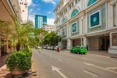Vista ad una delle vie centrali della città di Ho Chi Min Fotografia Stock Libera da Diritti