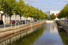 Vista ad una piccola parte del canale, Potsdam Immagine Stock
