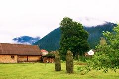 Vista adorabile dell'alloggio nelle montagne Immagine Stock