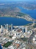 Vista aerea 2 della città di Perth Fotografia Stock