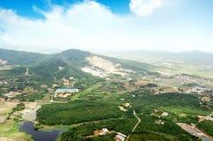 Vista aerea ad alta altitudine della Cina rurale Fotografie Stock