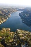 Vista aerea ai campi dell'azienda agricola Fotografie Stock