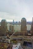 Vista aerea al memoriale nazionale dell'11 settembre dei Distr finanziari Immagine Stock