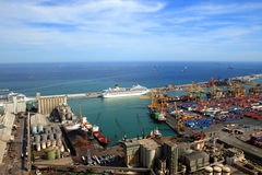 Vista aerea al porto Immagine Stock