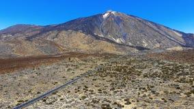 Vista aerea al vulcano Teide in Tenerife stock footage