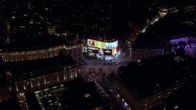 Vista aerea alla notte di Piccadilly Circus a Londra fotografie stock libere da diritti