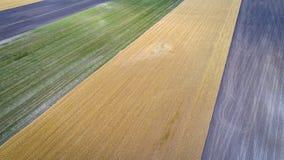 Vista aerea astratta del Nebraska rurale Fotografia Stock
