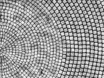 Vista aerea astratta di una rotonda pavimentata fotografia stock